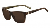 Valentino V629S Sunglasses Sunglasses - 255 Brown Horn