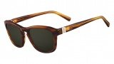 Valentino V630S Sunglasses Sunglasses - 236 Striped Brown