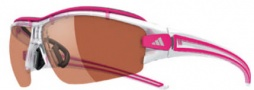 Adidas Evil Eye Halfrim Pro XS Sunglasses Sunglasses - 6075 Crystal Pik / LST Active Silver