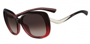Valentino V633SR Sunglasses Sunglasses - 614 Gradient Burgundy