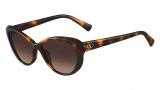 Valentino V635S Sunglasses Sunglasses - 214 Havana
