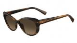 Valentino V635S Sunglasses Sunglasses - 261 Beige Horn