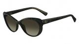 Valentino V635S Sunglasses Sunglasses - 330 Dark Green Glitter