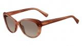 Valentino V635S Sunglasses Sunglasses - 601 Striped Rose