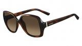 Valentino V637S Sunglasses Sunglasses - 214 Havana