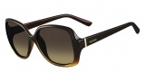 Valentino V637S Sunglasses Sunglasses - 216 Gradient Brown