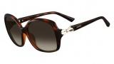 Valentino V640S Sunglasses Sunglasses - 214 Havana