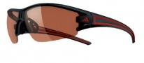 Adidas Evil Eye Half Rim XS Sunglasses Sunglasses - 6050 Shiny Black Red / LST Active Silver
