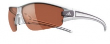 Adidas Evil Eye Half Rim XS Sunglasses Sunglasses - 6054 Shiny White Anthracite / LST Active Silver