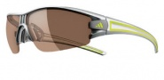 Adidas Evil Eye Half Rim XS Sunglasses Sunglasses - 6058 Silvermet Lime / LST Contrast Silver