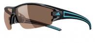 Adidas Evil Eye Half Rim XS Sunglasses Sunglasses - 6059 Shiny Black Blue / LST Contrast Silver