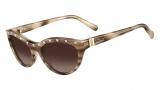 Valentino V641S Sunglasses Sunglasses - 281 Tokio Havana