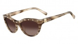 Valentino V641S Sunglasses Sunglasses - 291 Striped Nude
