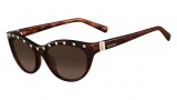 Valentino V641S Sunglasses Sunglasses - 725 Blonde Havana