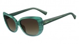 Valentino V644S Sunglasses Sunglasses - 445 Striped Aqua