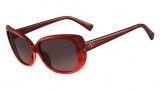 Valentino V644S Sunglasses Sunglasses - 618 Stiped Red
