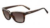 Valentino V646SR Sunglasses Sunglasses - 215 Dark Havana
