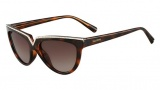 Valentino V647SR Sunglasses Sunglasses - 215 Dark Havana