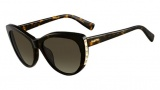 Valentino V648S Sunglasses Sunglasses - 215 Dark Havana