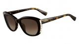 Valentino V649S Sunglasses Sunglasses - 215 Dark Havana