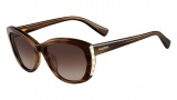 Valentino V649S Sunglasses Sunglasses - 236 Striped Brown