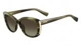 Valentino V649S Sunglasses Sunglasses - 305 Striped Khaki