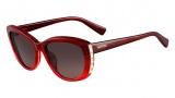 Valentino V649S Sunglasses Sunglasses - 618 Striped Red