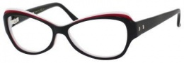 Yves Saint Laurent 6369 Eyeglasses Eyeglasses - Black Red White