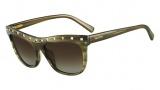 Valentino V650S Sunglasses Sunglasses - 305 Striped Khaki