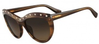 Valentino V651S Sunglasses Sunglasses - 236 Striped Brown