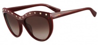 Valentino V651S Sunglasses Sunglasses - 606 Rouge Noir