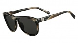 Valentino V652S Sunglasses Sunglasses - 236 Striped Brown