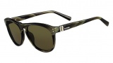 Valentino V652S Sunglasses Sunglasses - 305 Striped Khaki