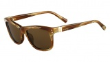Valentino V653S Sunglasses Sunglasses - 259 Striped Cognac