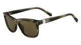 Valentino V653S Sunglasses Sunglasses - 305 Striped Khaki