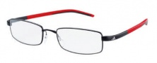 Adidas A688 Eyeglasses Eyeglasses - 6056 Black Red