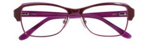 BCBG Max Azria Adriana Eyeglasses Eyeglasses - WIN Wine Laminate