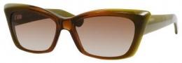 Yves Saint Laurent 6337/S Sunglasses Sunglasses - Brown Green Shiny