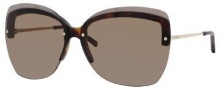 Yves Saint Laurent 6338/S Sunglasses Sunglasses - Dark Havana Light Gold