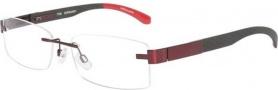 Tumi T102 Eyeglasses Eyeglasses - Burgundy