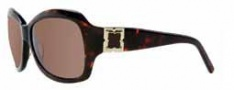 BCBG Max Azria Savvy Sunglasses Sunglasses - TORT Tortoise / Brown Lenses