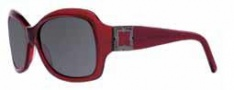 BCBG Max Azria Savvy Sunglasses Sunglasses - RED Red Transparent