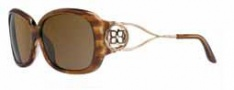 BCBG Maz Azria Stellar Sunglasses Sunglasses - BRO Brown Horn