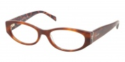 Prada PR 03PV Eyeglasses Eyeglasses - MAU1O1 Top Havana / Hexagon Demo Lens