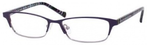 Marc By Marc Jacobs MMJ 504 Eyeglasses Eyeglasses - Violet Ruthenium Striped Fuchsia