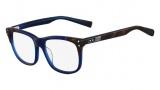 Nike 7216 Eyeglasses Eyeglasses - 240 Tortoise Crystal Blue