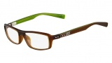Nike 7220 Eyeglasses Eyeglasses - 220 Crystal Dark Brown / Green Horn