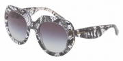 Dolce & Gabbana DG4191P Sunglasses Sunglasses - 19018G Black Lace / Gray Gradient