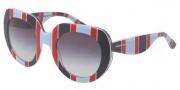 Dolce & Gabbana DG4191P Sunglasses Sunglasses - 27198G Stripes Azure Red Blue / Gray Gradient