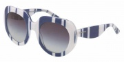 Dolce & Gabbana DG4191P Sunglasses Sunglasses - 27208G Stripes Blue White / Gray Gradient